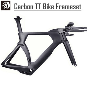 2017 hot selling Toray T800 wholesale carbon TT bike frame, time trial carbon triathlon bicycle frame