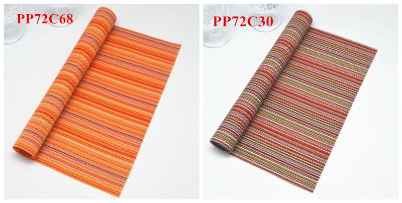 wholesale bath room pvc woven floor mat dinner napkins custom