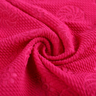 New arrivals jacquard embossed 95% polyester 5% spandex stretch microfiber polyester fabric dress