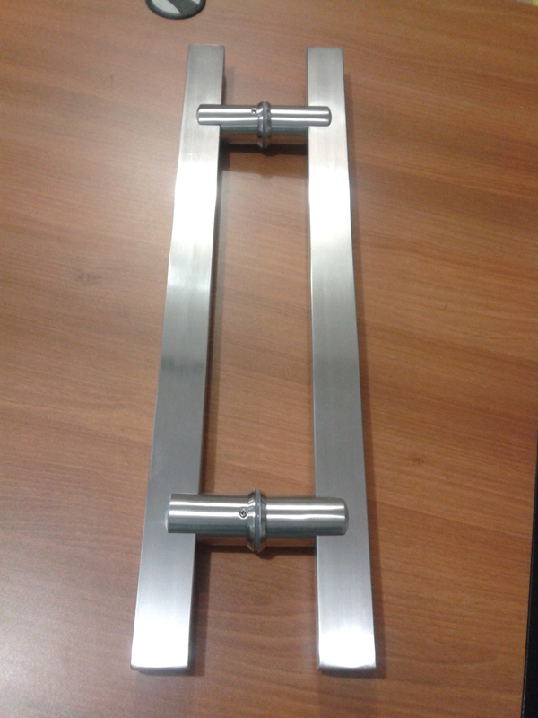 Office Door Handles Half Opened To A Cabinet Or O