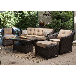 New design elegant patio furniture dark garden sets wicker recliner sofas