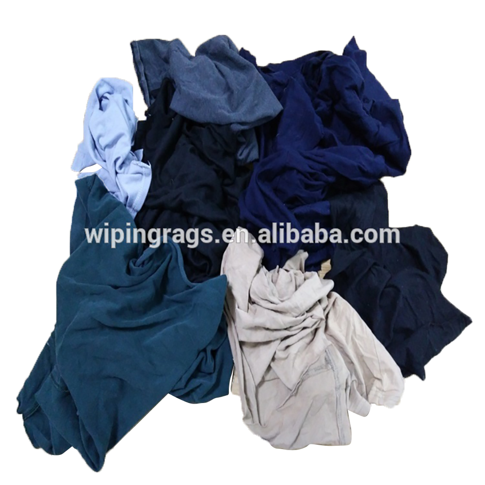 Cleaning oil 100% cotton T-shirt wiping rags