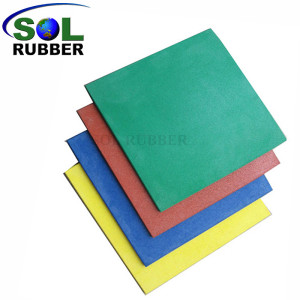 Playground Low price of crumb rubber floor paint tile