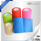 Non Woven Fiber Elastic Cohesive Flexible Bandage Easy Application First Aid Cotton Manufacturing