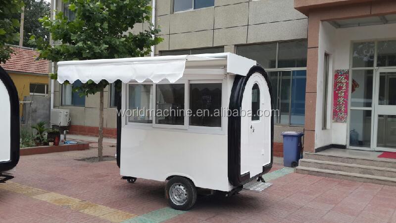 Fiberglass Food Truck Fast Food Van Mobile Kiosk Carts