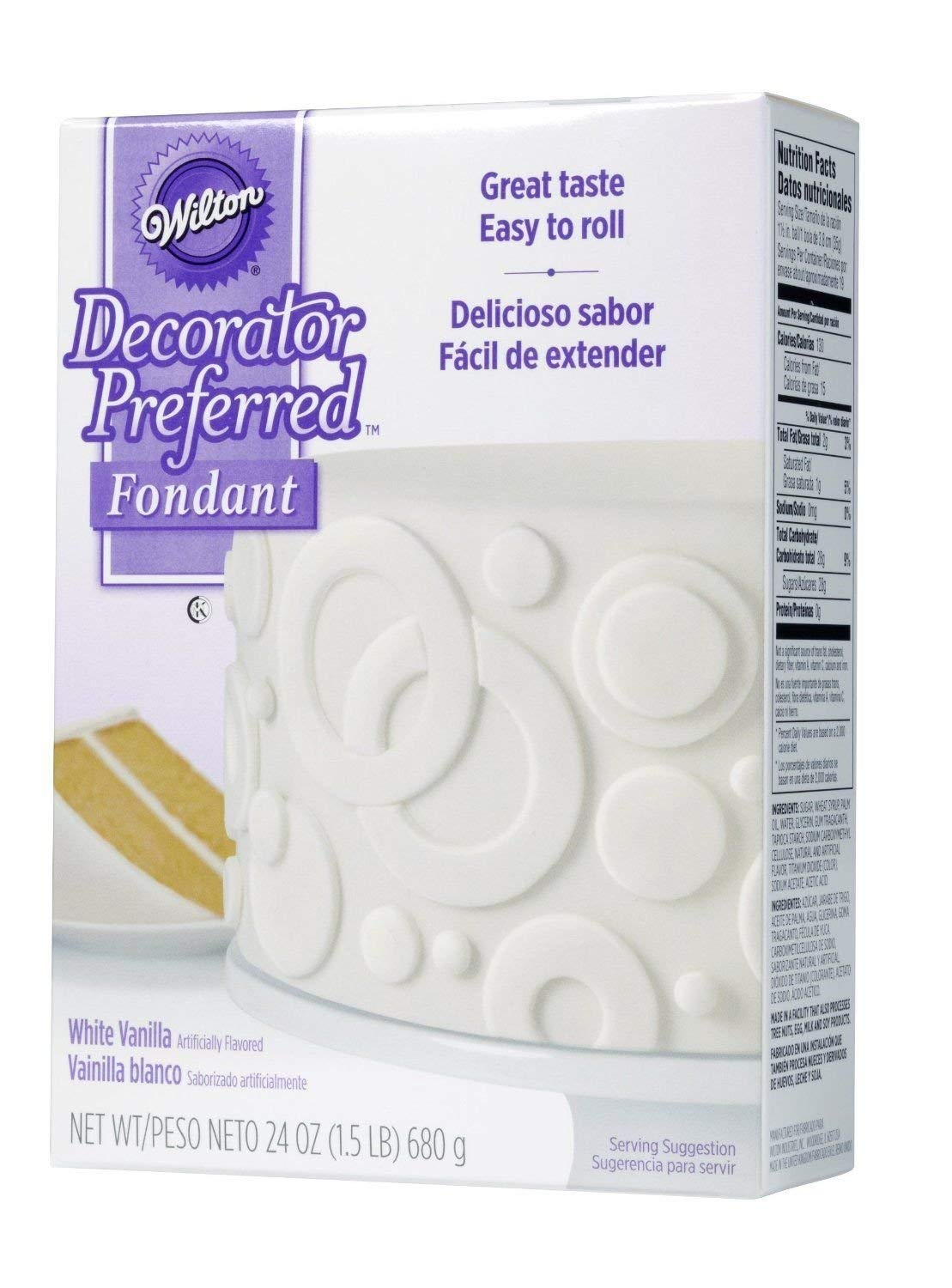 White 710-2301 Wilton Decorator Preferred Great Taste Easy To Roll Fondant