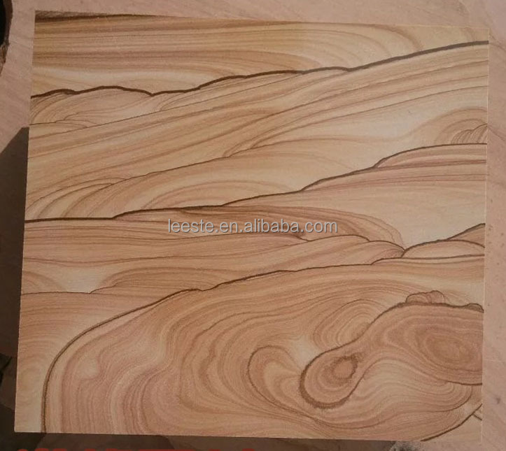 Supply Of High-Quality Yellow Wooden Vien Sandstone Slab Blocks Price For Villa Wall Tile