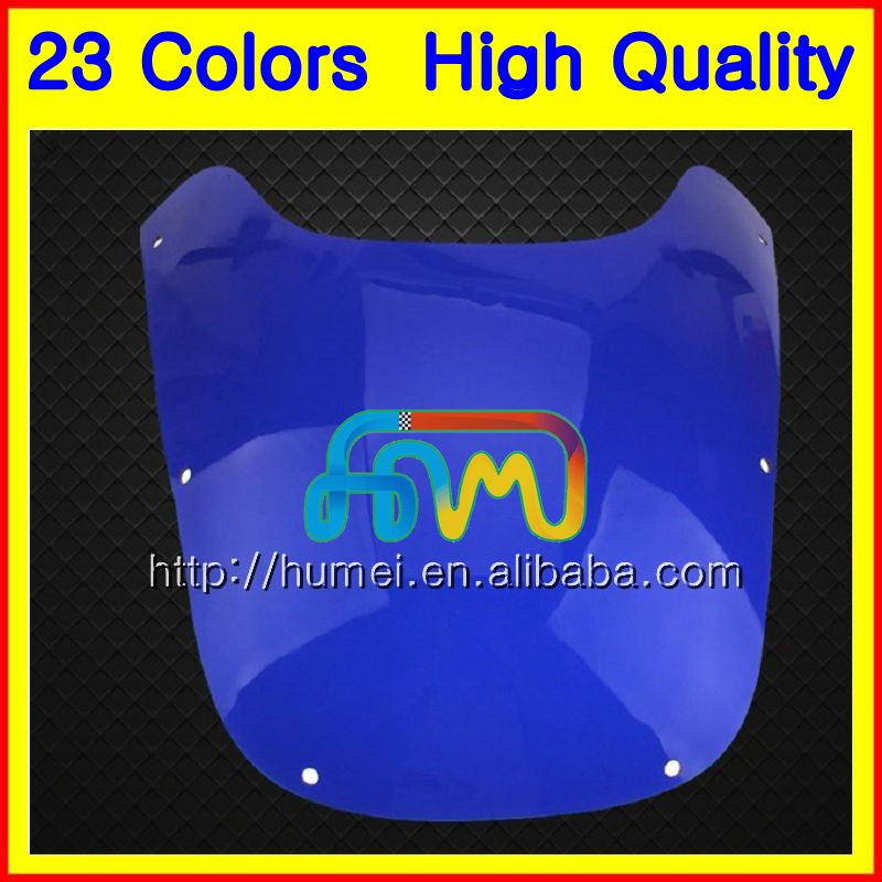 Windscreen Screens For YAMAHA FZR400 89 90 FZR400R FZR400 R FZR 400R FZR 400 R 1989 1990 Chrome Black Clear Smoke Windshield