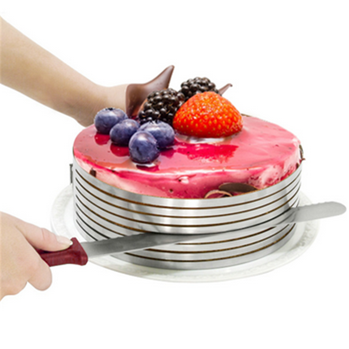 BPA free Stainless steel round cake mold Mousse Cake ring