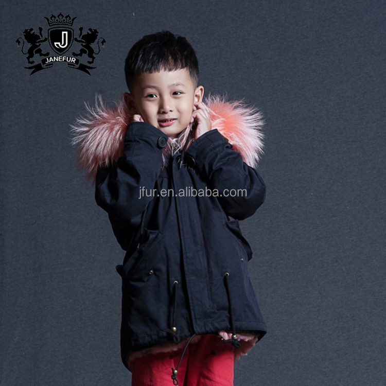 Custom Faux Rabbit Fur Coat For Kids Lovely Children Winter Coat For Wholesale
