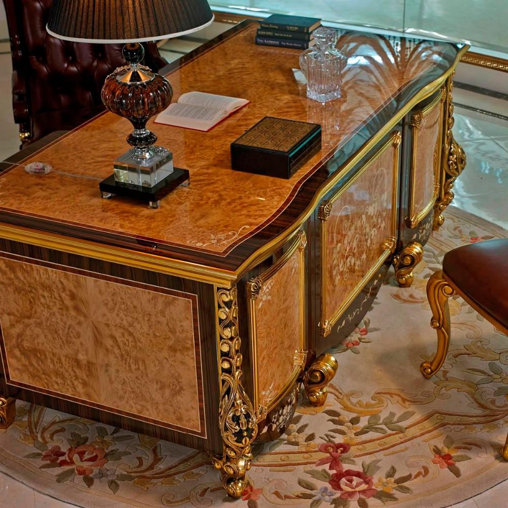 mobili per ufficio sala studio scrivania e libreria in legno massello ...