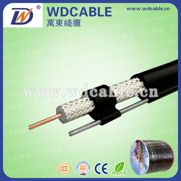 OVERHEAD 75OHM RG6 coaxial cable with messenger