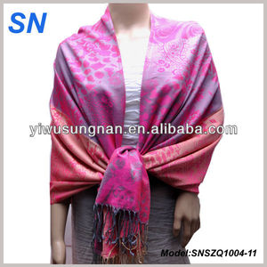 10 colors in stock Two tone Women Evening Stole Pashmina Shawl