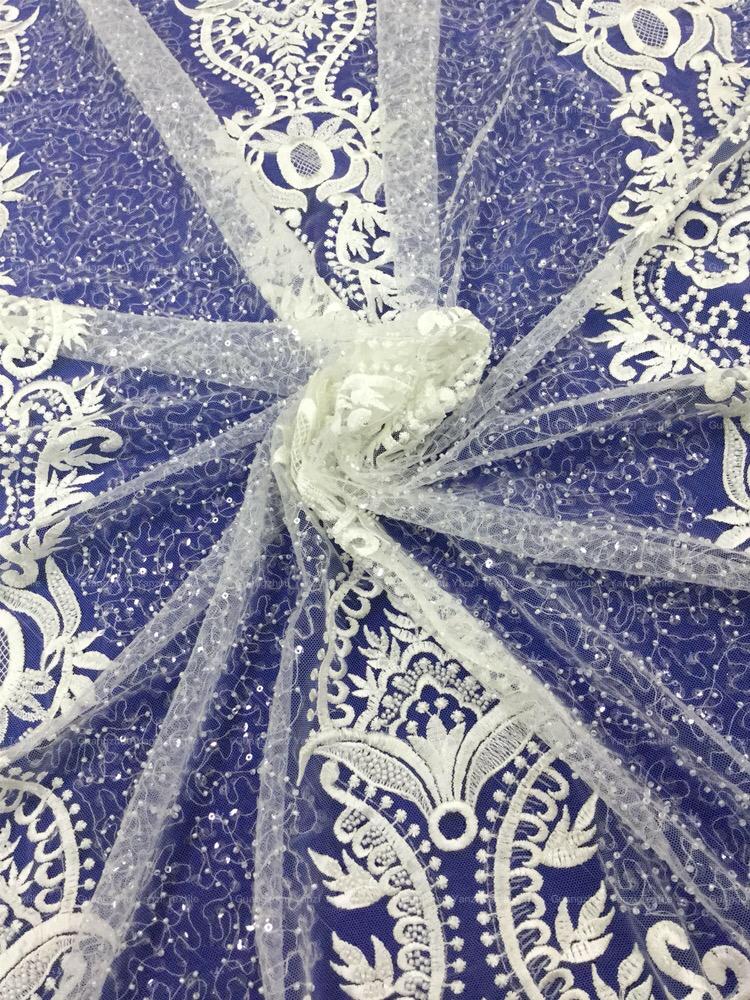 คุณภาพดีเยี่ยม glitter เลื่อม tulle ลูกไม้ผ้าสำหรับงานแต่งงานชุด
