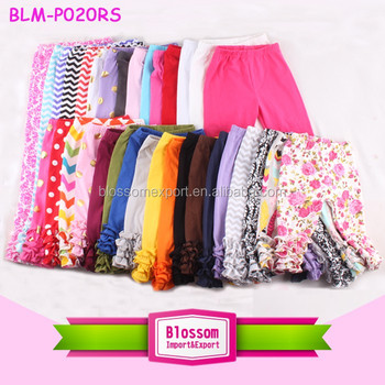 bae66312215ee Popular design baby girls icing leggings cotton triple ruffle pants  wholesale icing pants, View wholesale icing pants, Blossom Product Details  from ...