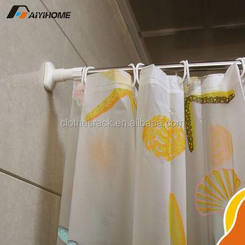 Einfache Installation Ecke Bad Form Duschvorhang Stange Stange