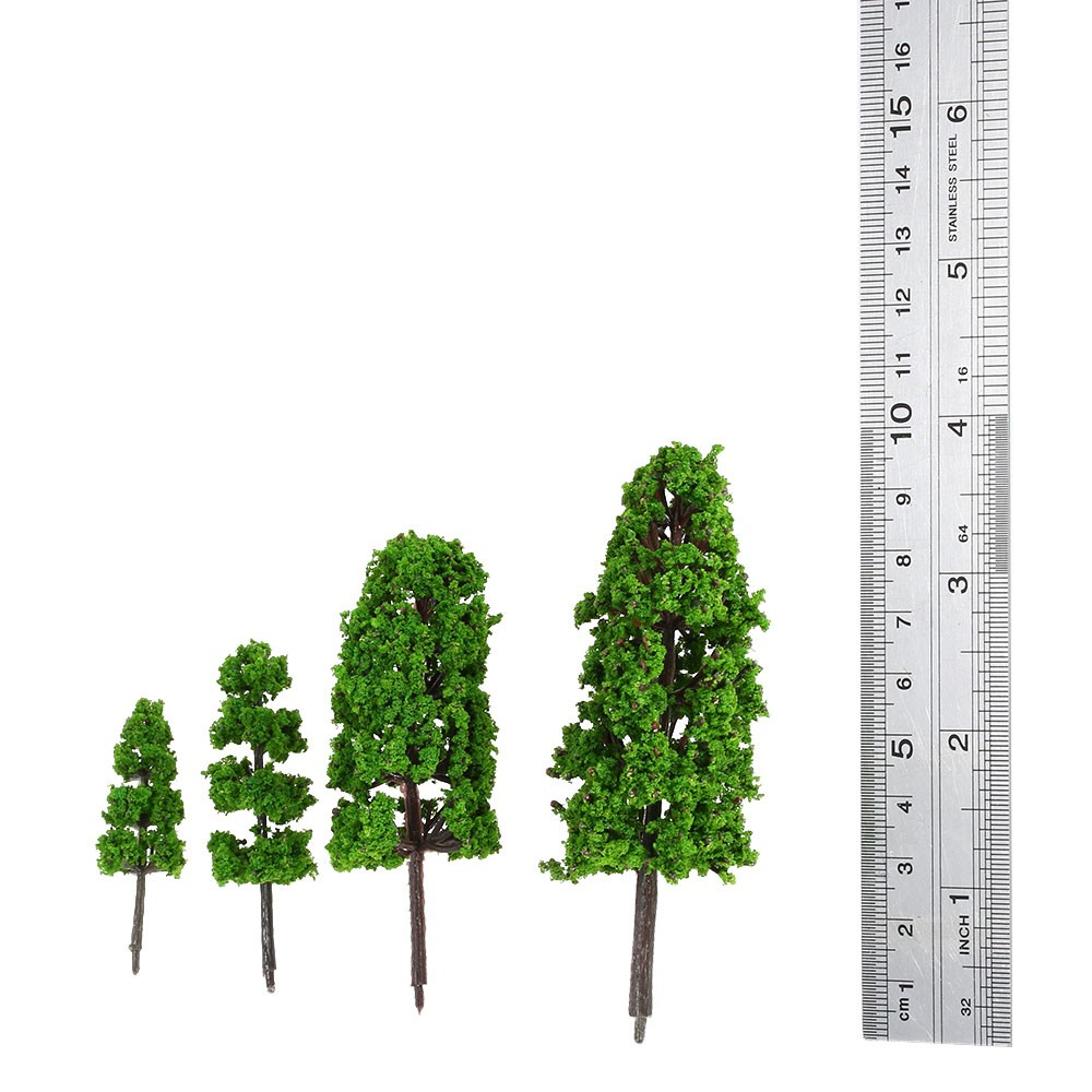 Modelo De Árboles De Plástico Verde Árbol Modelo De Tren Diseño ...