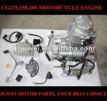 High quality motorcycle engine with carburetor and E parts for CG125,CG150,CG175,CG200