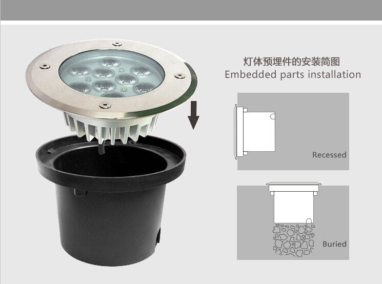 Outdoor led up lighting outdoor lighting ideas led tree light outdoor uplight 9w high power underground outdoor led uplighting aloadofball Image collections
