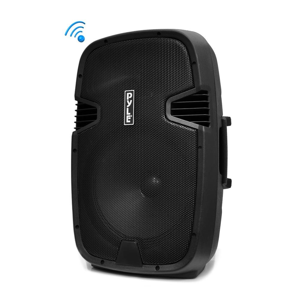 Pyle Bluetooth PA Loudspeaker [Powered Speaker DJ System] Built-in Rechargeable Battery | MP3/USB/SD/FM Radio | 15'' Subwoofer | 1000 Watt (PPHP152BMU)