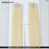ZZH Remy softy super sticker double drawn tape hair extensions