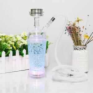Cheap sheesha portable plastic art shisha hookah wholesale with LED