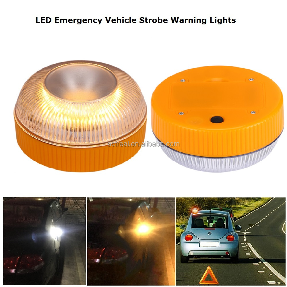 NEW Bright 10W LED Truck Vehicle Car Roof Top Flash Strobe Emergency Hazard Warning Light Yellow Amber