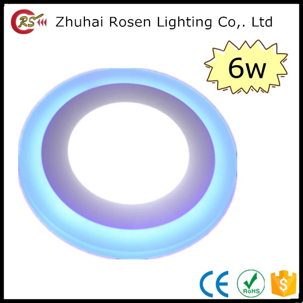 12 volt lighting parts factory price under light double color round 6w led panel light