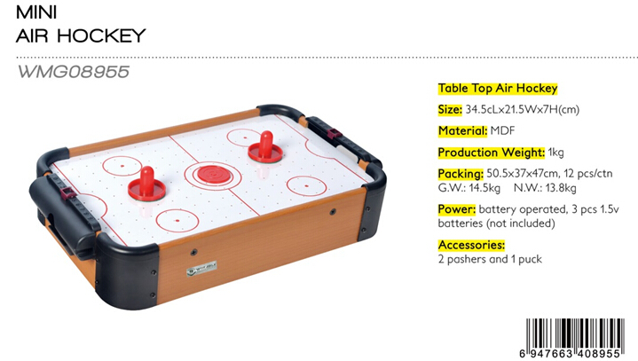 Mini Wooden Air Hockey Game Set,Table Top Board Game,Indoor/outdoor Game
