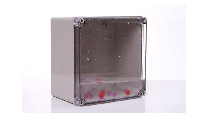 Low cost gray outdoor applications IP68 waterproof plastic electronical enclosure