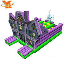 Halloween Inflatable Haunted Moon Bouncer Bounce House Haunted House