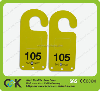 cute paper door hanger with customized design ideal for hotel room