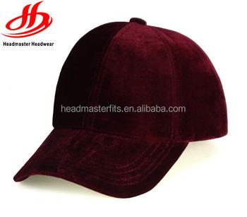Middle Profile Custom Plain Velvet Baseball Cap Blank Dad Hats ... aa6baf8d571