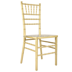 Wedding banquet event used Beech wood stackable gold chiavari chairs for sale