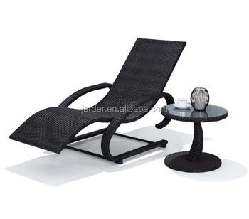 Hot Sale Outdoor Aluminium Rattan Spring Lounge Chair Table, KD