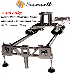 2.4m 60kg Heavy Duty DSLR Video Camera Dolly Rail Track Slider for Film Shooting Equipment
