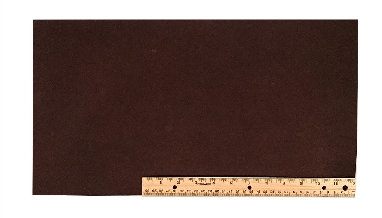 "Scrap Lace Leather Dark Brown Cowhide 10"" X 18"" Piece #L301"