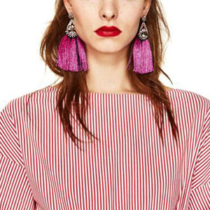 Tassel Earrings For Women Exaggerated Ethic Bohemia Large Big Long Fringe drop Earrings Vintage Statement Jewelry