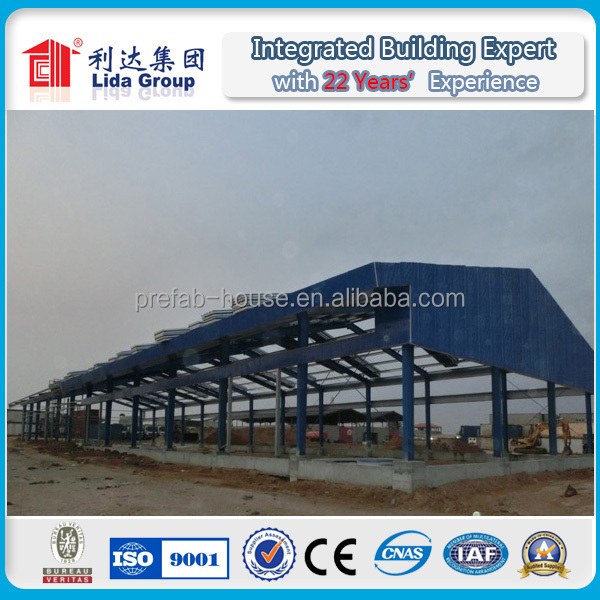 pre fabricated china large span steel structure construction project