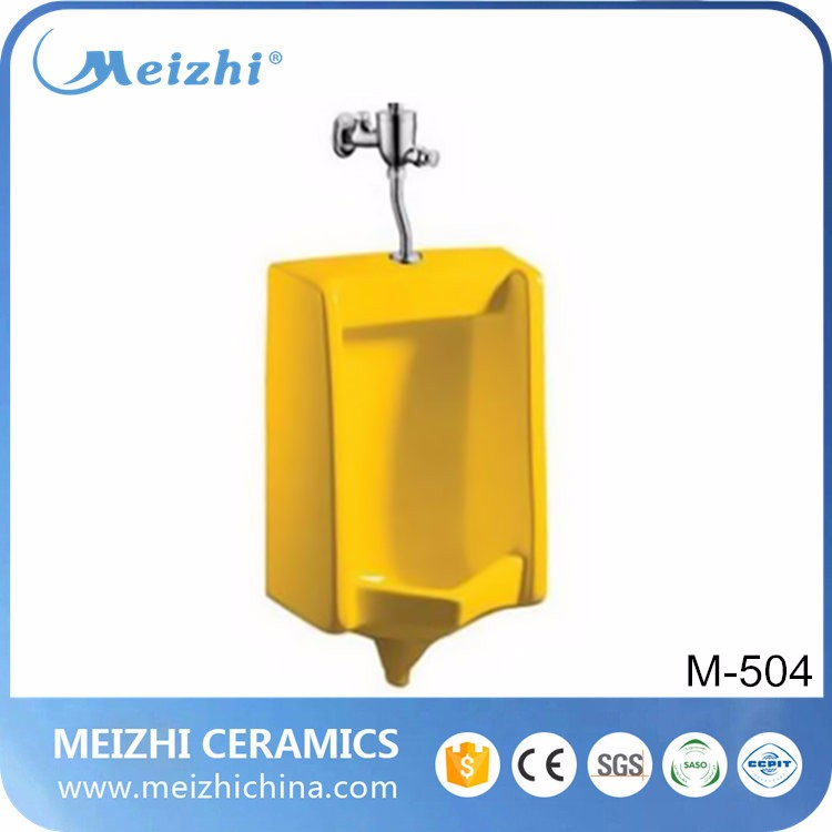 Public urinal manufacturers wall-hung yellow waterless urinal for hot sale