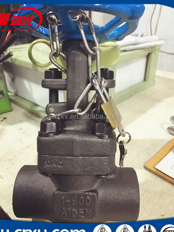 Oil and Gas Valve Gate Valve iinch 800LB A105N SW/NPT with Locking Device