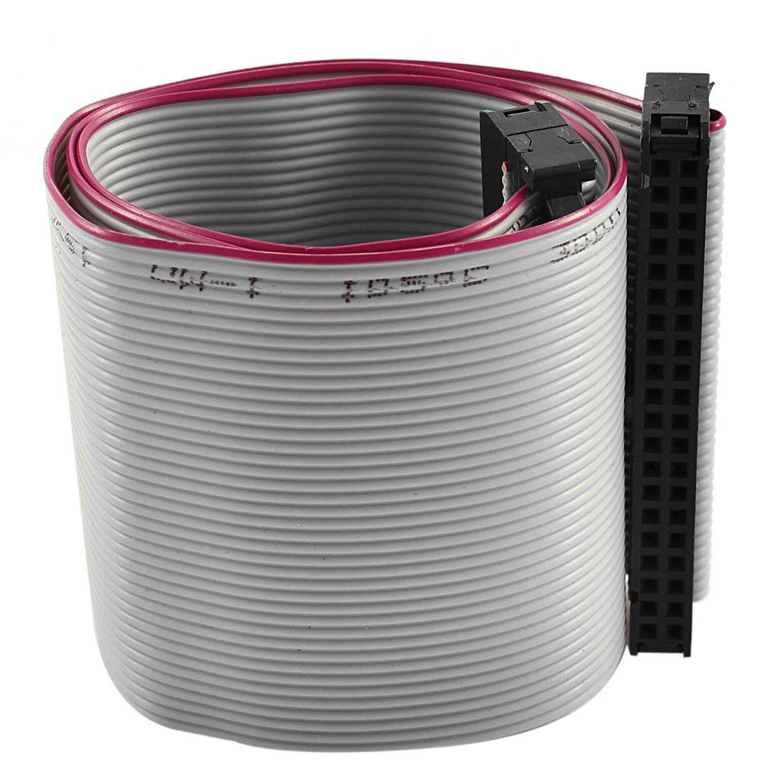 Aexit Hard Drive Bulk Cables 40cm Feamle IDC 40 Pin Extension Wire Flat Flat Ribbon Cables Ribbon Cable