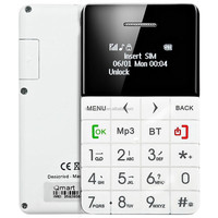 New QMART Q5 Card Phone 0.96 Inch OLED Screen Elder Senior People GSM Mobile Phone Qwerty Keyboard Health Monitoring