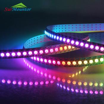 Smd 5050 Programmable White Pcb Ws2812b Addressable Dmx Remote Control Rgb Led Strip Light Waterproof Rgbw 5m Buy Led Light Strip Rgb Led Light