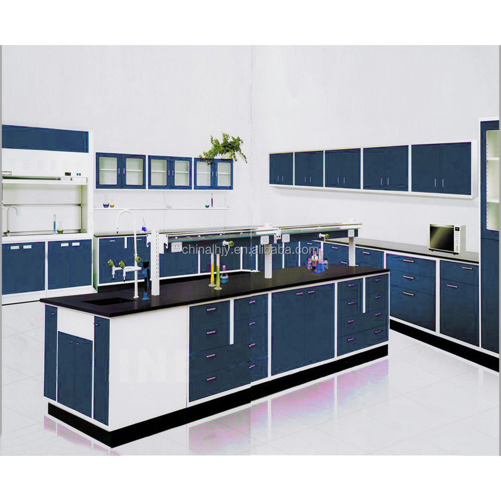 modern school physics/biology lab furniture dental lab work bench with lab accessories