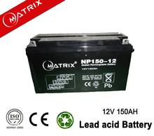 Matrix GEL 12v150ah solar battery 1pcs/cn 600pcs/pallet
