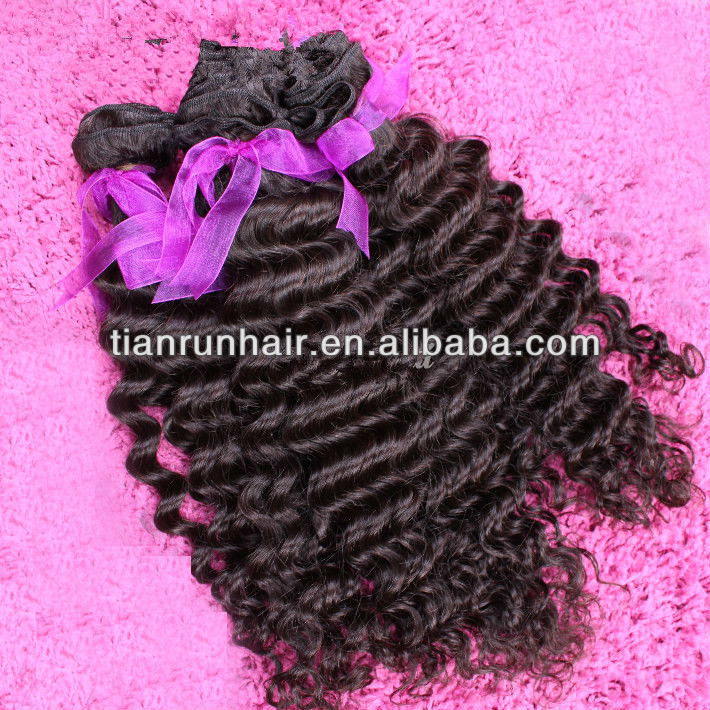 Xuchang tianrun wholesale top quality deep wave virgin malaysian hair