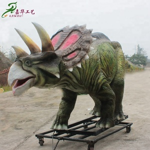 Dinosaur museum decoration Triceratops robotic life-size T-rex dinosaur models for sale