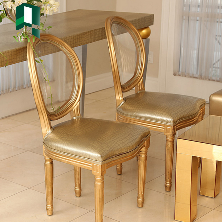 Qatar modern banquet round back leather white wedding chairs for sale