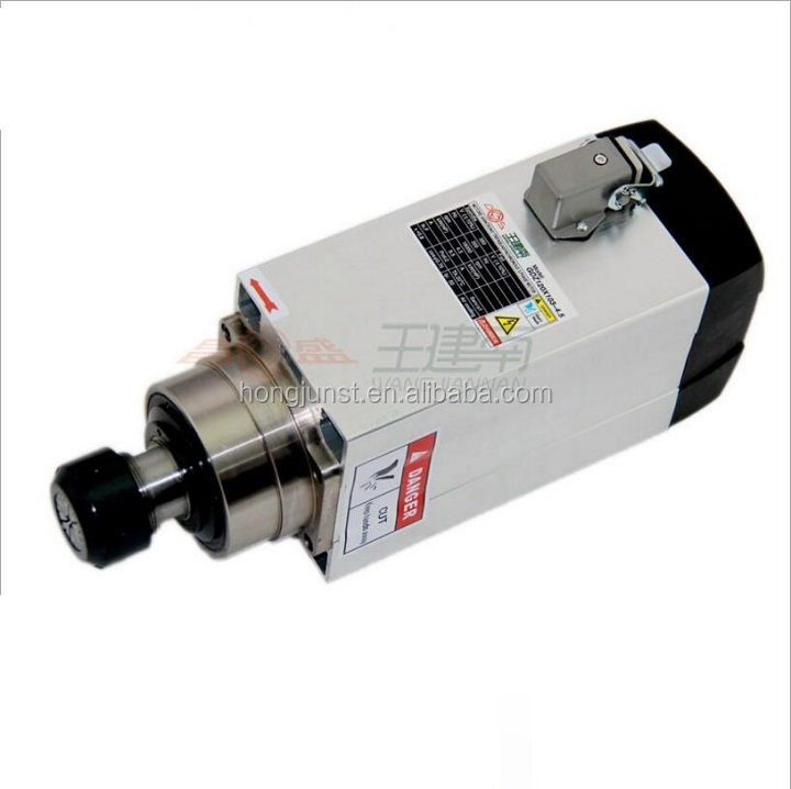 Top sale 4.5kw air cooled cnc drilling square spindle motor